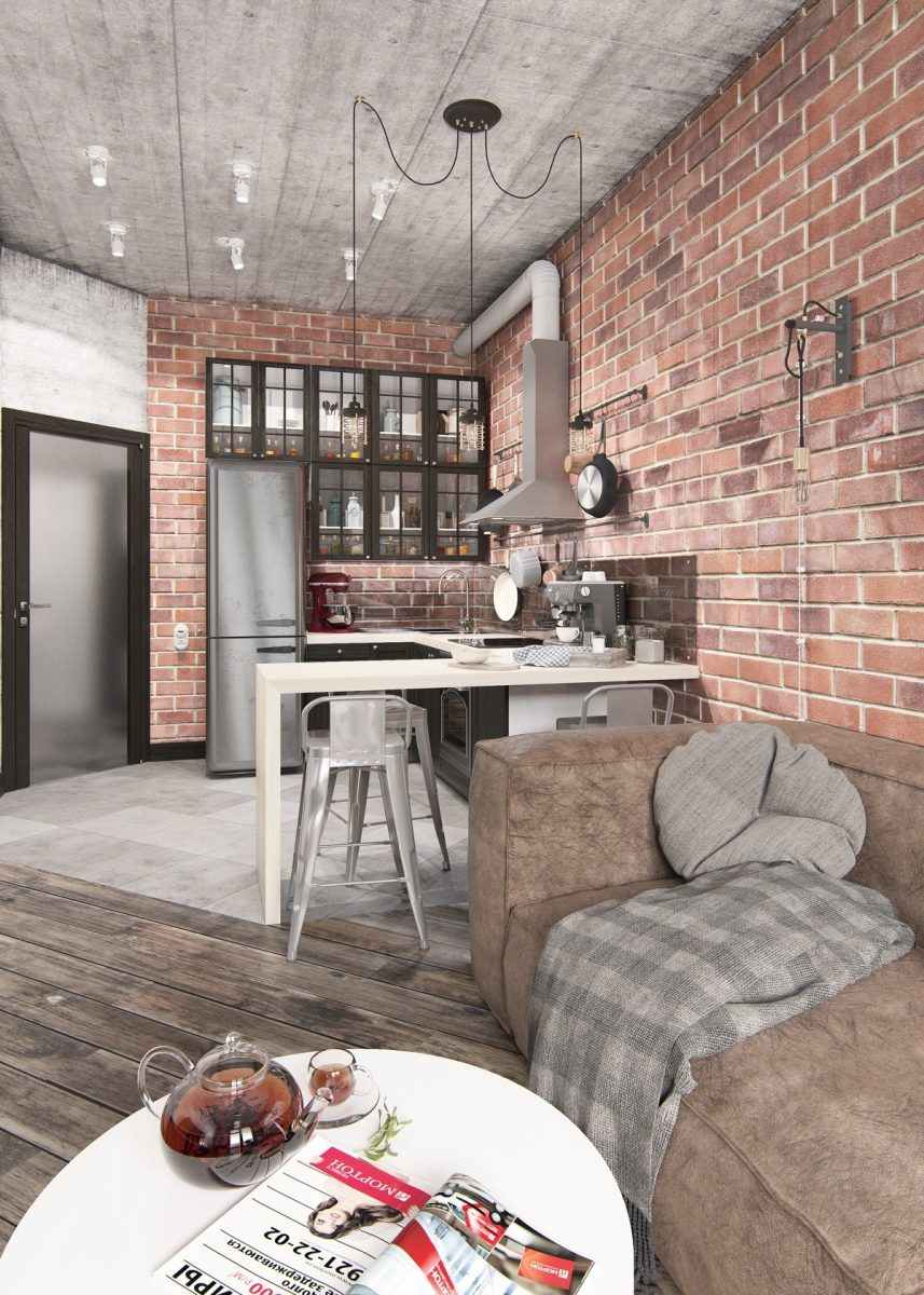 exposed-brick-wall-apartment-with-concrete-ceilings