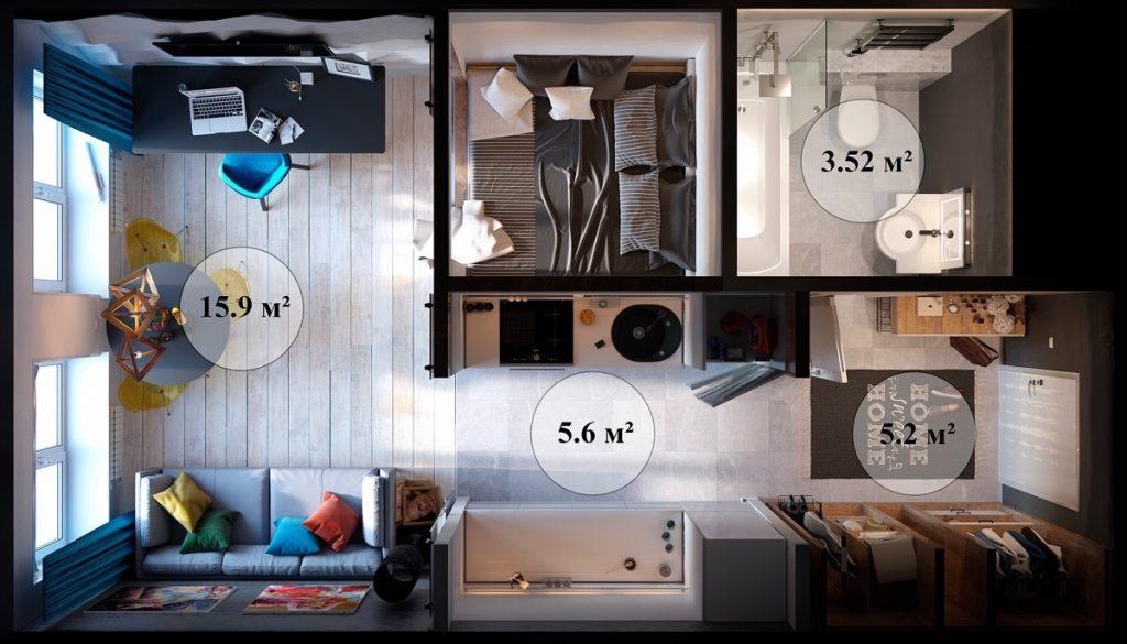 Foto 11_Ideas para decorar apartamento turistico pequeño